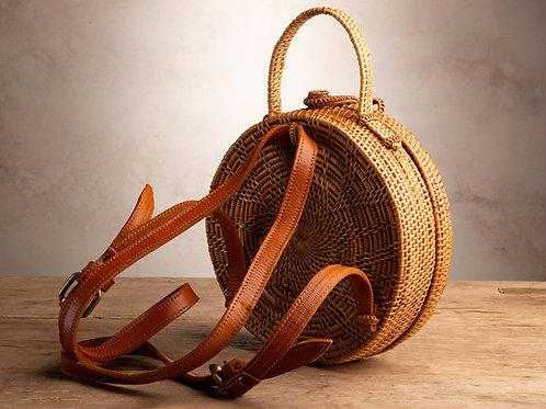 Round Ata Backpack Purse - Natural Loop
