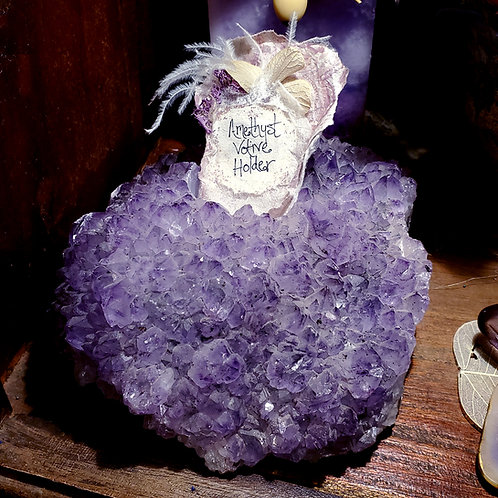 Amethyst Votive Holder