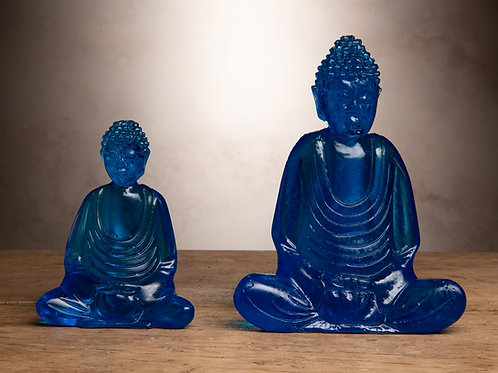 Blue Resin Buddha