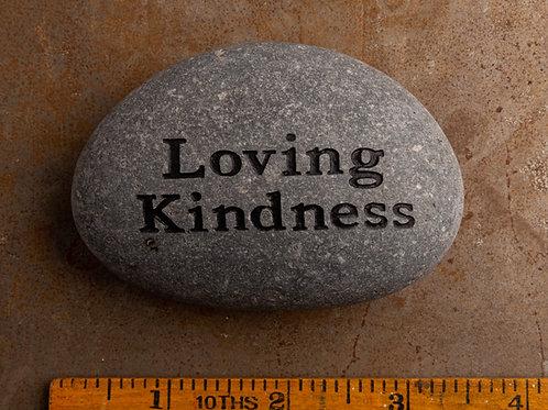 Loving Kindness - Gray on Black