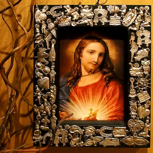 Milagros Frame with Jesus