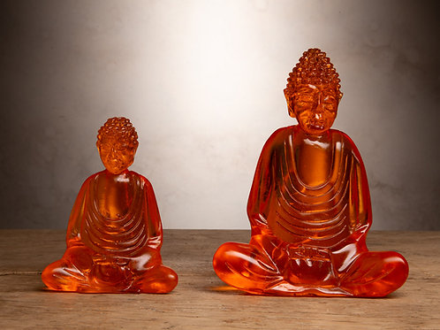 Orange Resin Buddha
