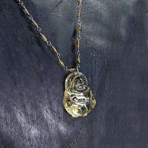 Citrine Buddha Necklace