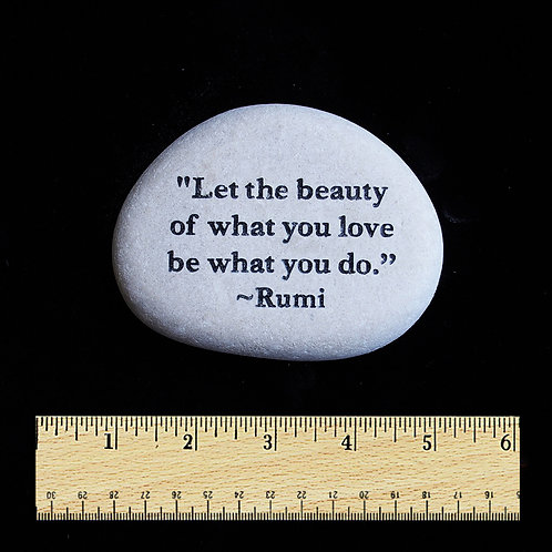 Let the beauty Word Stone