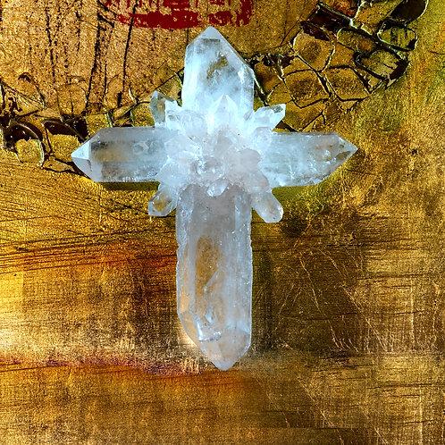 Himalayan Quartz Crystal Cross