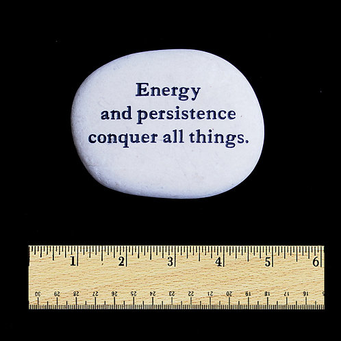 Energy and persistence Word Stone