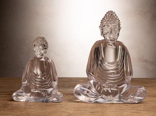 Clear Resin Buddha