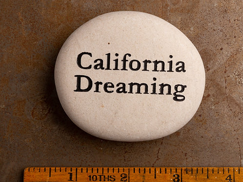 California Dreaming Word Stone