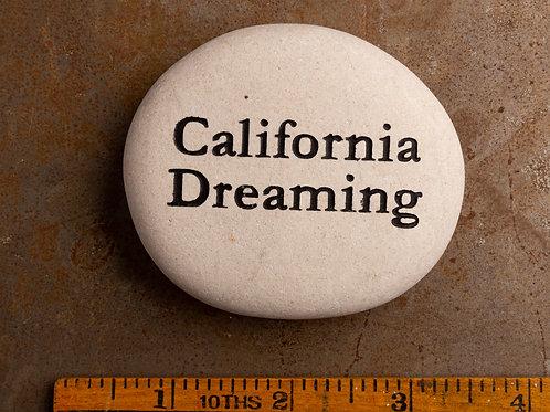 California Dreaming Word Stone