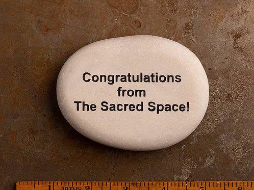 Congratulations from The Sacred Space
