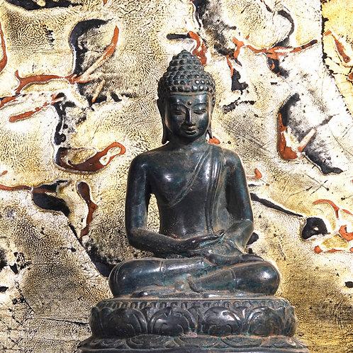 Meditating Buddha Statue - Green