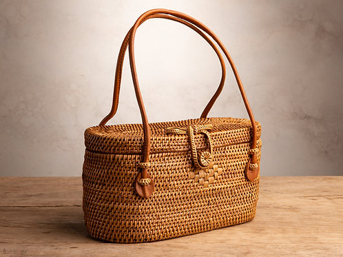 Bucket Ata Purse - Natural Loop