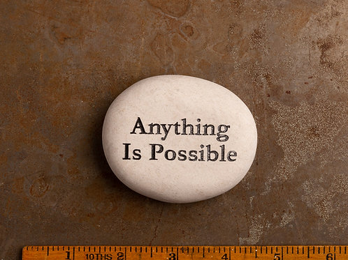 Anything is possible Word Stone