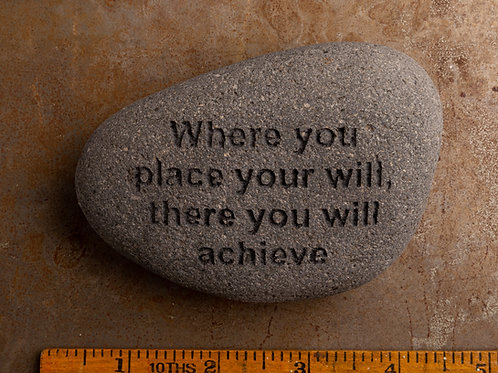 Where you place your will - Black on Gray