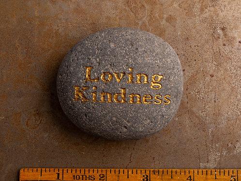 Loving Kindness - Gold on Gray