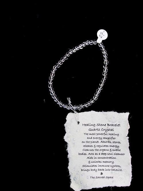 Quartz Crystal Healing Stone Bracelet