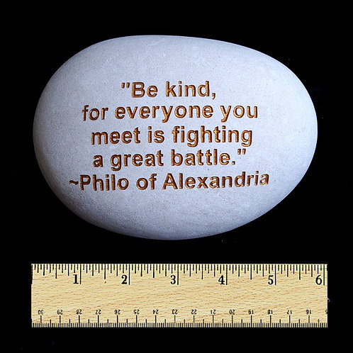 Be Kind Word Stone - Gold