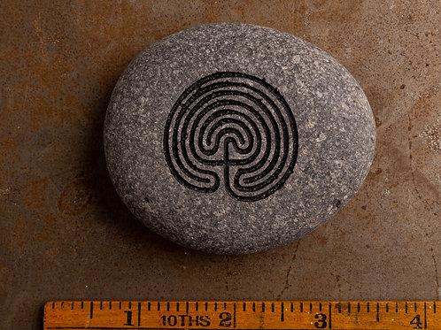 Labrynth Symbol - Black on Gray