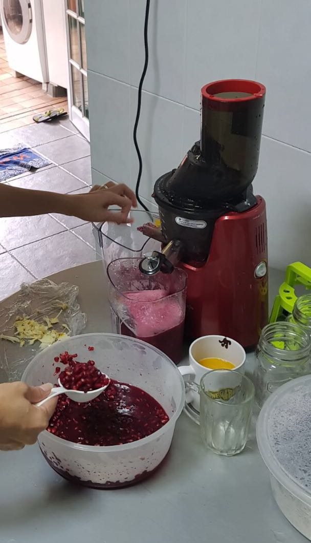 Developing eating disorder - juicing pomegranate