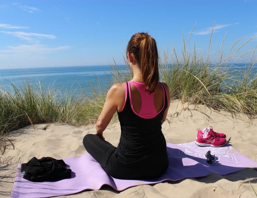 Spiritual Wellness - Meditating and appreciating nature