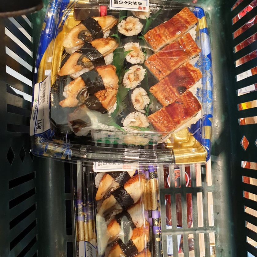Eating Disorder recovery - eating my favourite sushi
