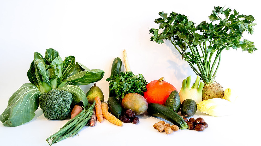 Vegetables - Consume vegetables of different colours on the spectrum