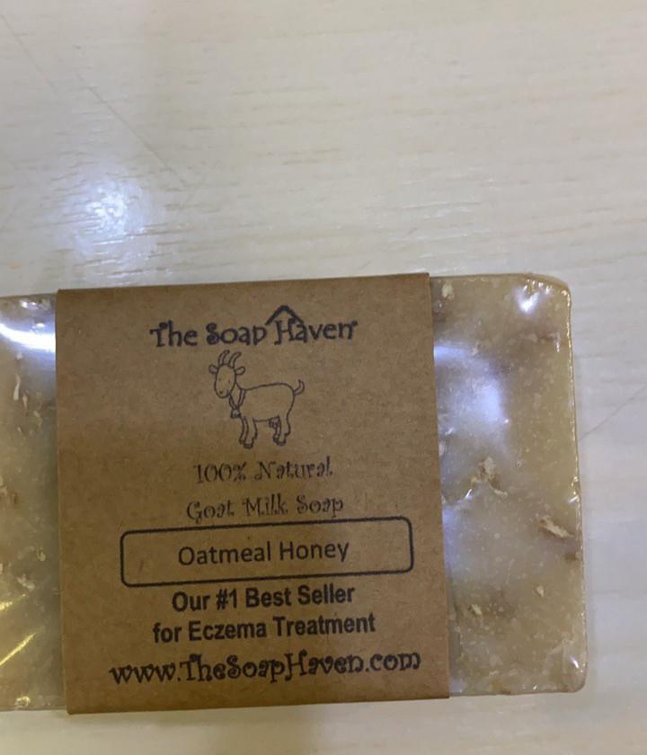 The Soap Haven natural goat milk oatmeal honey soap bar for eczema