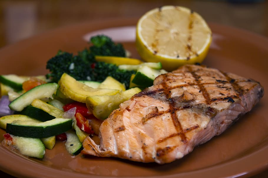 salmon steak as a form of omega 3 fatty acid