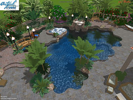 3D Waterpark Family Pool