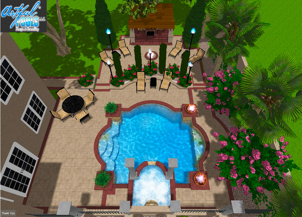 Tuscan pool design