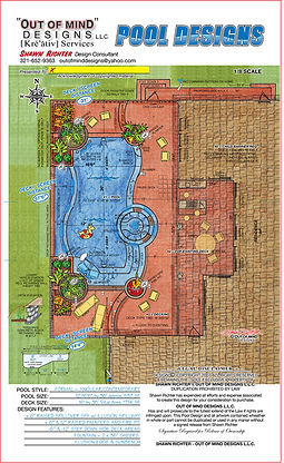 2d swimming pool design concept