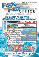 Project Management Software for Pool Builders