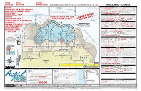 CAD swimming pool construction plan