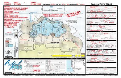 CAD pool construction plans