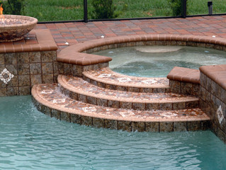 Creating Custom Tiled Firebowls and Spa Spillway