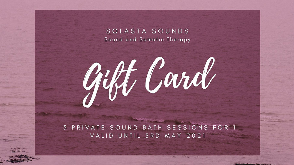 3for2 For Private one to one Sound Bath
