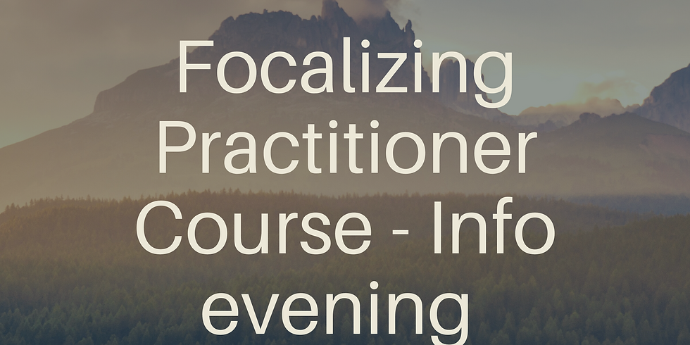 Focalizing Practitioner Training - Info Evening
