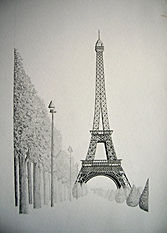Eiffel Tower Tennessee artist drawing