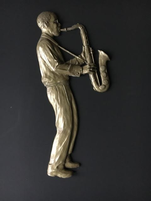 jazz player bronze