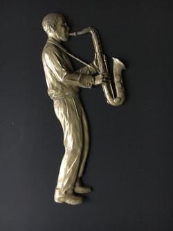 jazz player bronze