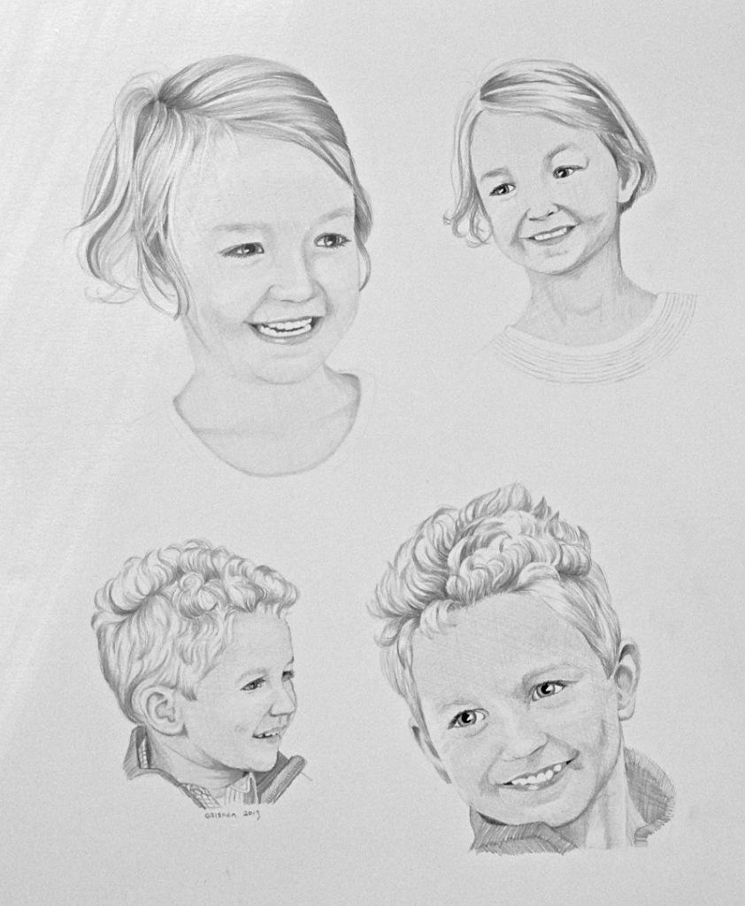 Children sketch portrait