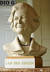 Lady Bird Johnson sculpture