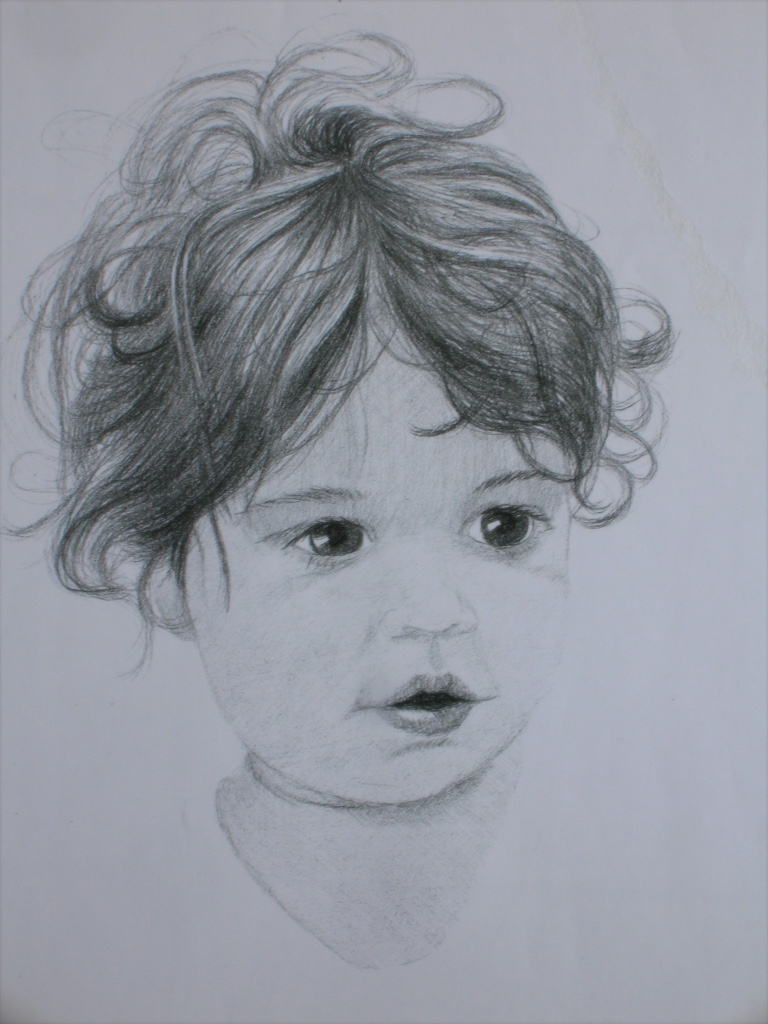 Child portrait sketch