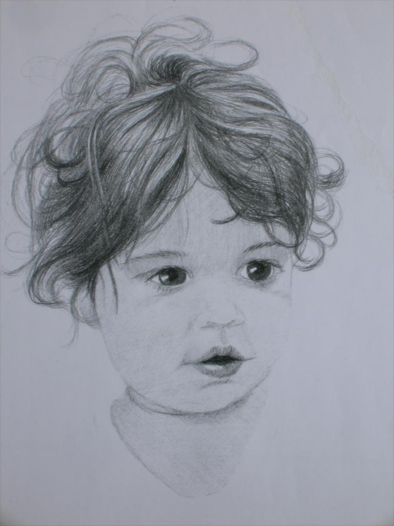 Child portrait sketch