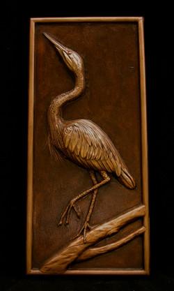 Bronze crane casting