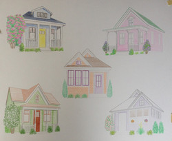 Color pencil rendering Columbia home