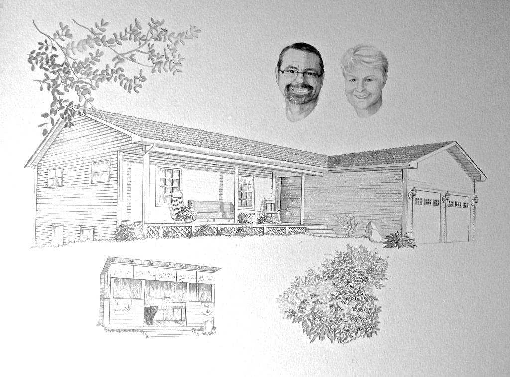 Home rendering sketch