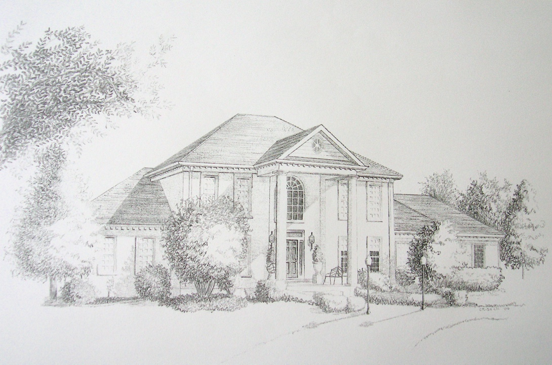 Architectural rendering home