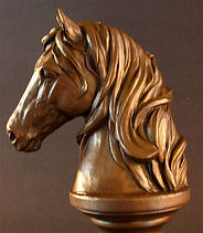 Bronze horse head Tennessee Artist