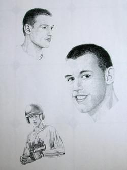 Baseball player portrait pencil